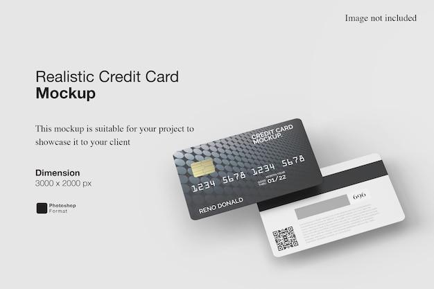 Maquete realista de cartão de crédito