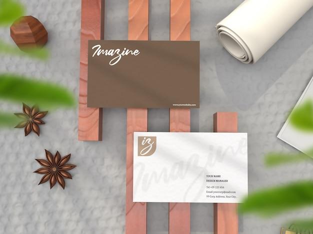 Maquete realista de cartão de nome comercial
