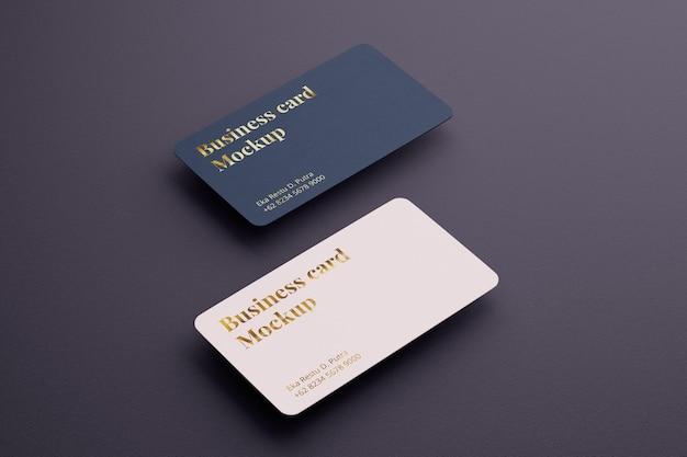 Maquete realista de cartão de visita com ângulo esquerdo