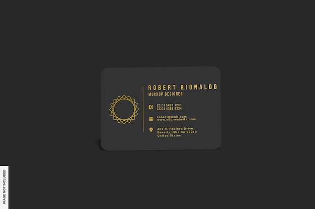 Maquete realista de cartão de visita com luz escura