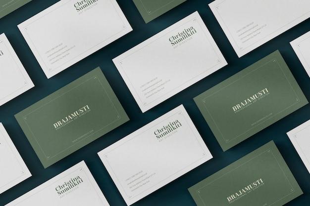 Maquete realista de cartão de visita elegante, luxuoso ou minimalista