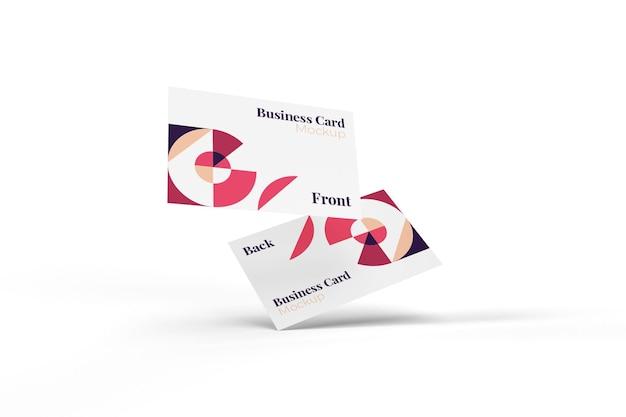 Maquete realista de cartão de visita útil e elegante