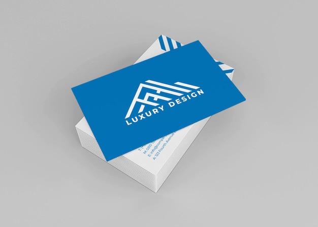 Maquete realista de cartão de visita