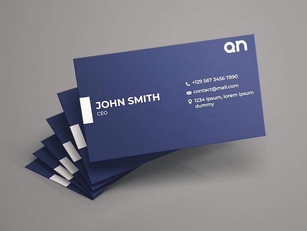 Maquete realista de cartões de visita
