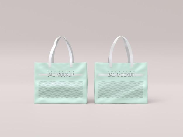 Maquete realista de duas sacolas de compras