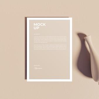 Maquete realista de folheto de panfleto de papel a4