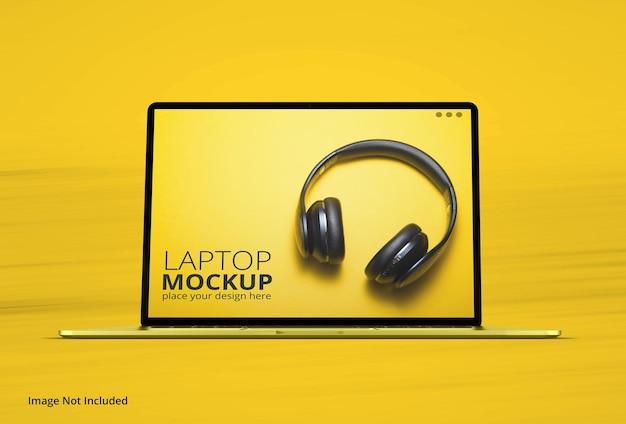 Maquete realista de laptop macbook pro