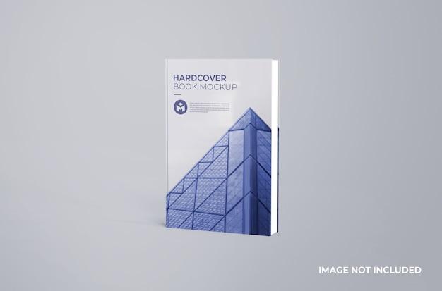 Maquete realista de livro de capa dura