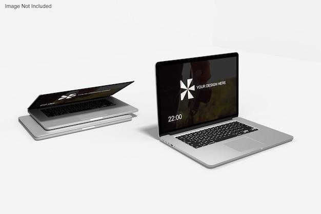Maquete realista de macbook