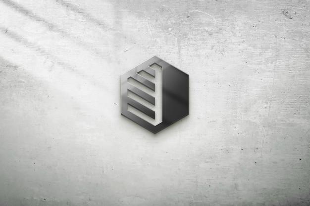 Maquete realista de parede com objetos pretos
