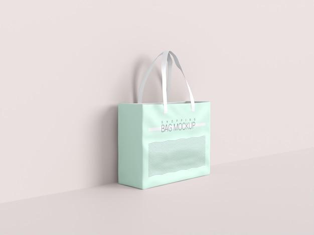 Maquete realista de sacola de compras