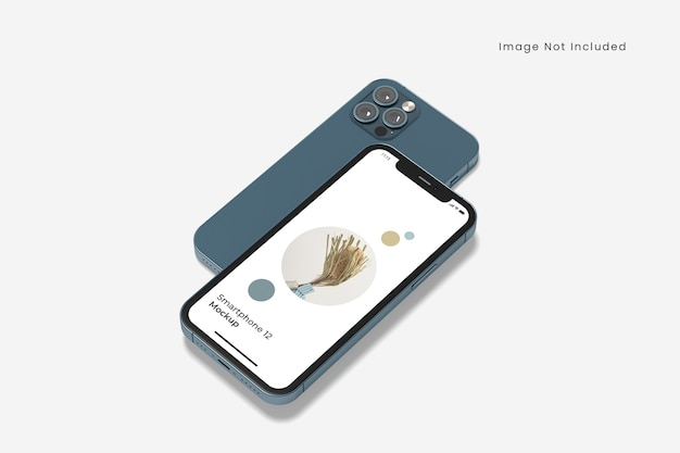Maquete realista de smartphone isolada