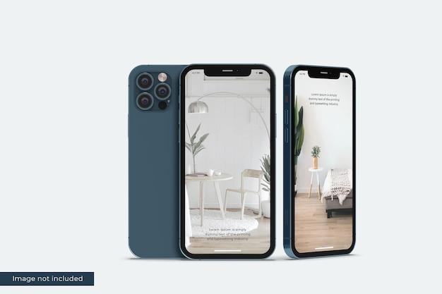 Maquete realista de smartphone para apresentação do projeto