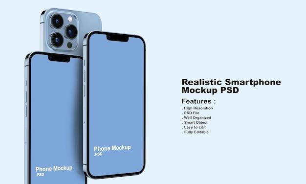 Maquete realista de smartphone premium