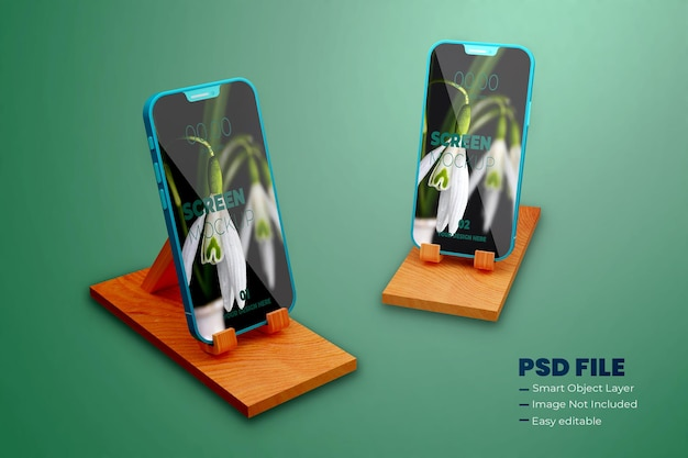 Maquete realista de smartphone