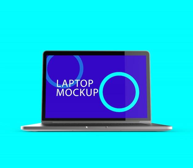 Maquete realista de tela de laptop
