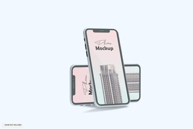 Maquete realista de telefone moderno