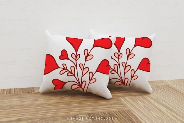 Maquete realista de travesseiro