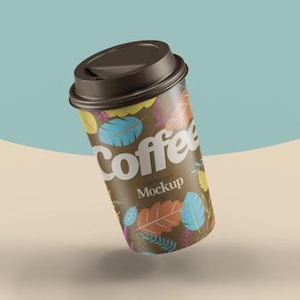 Maquete realista de xícara de café
