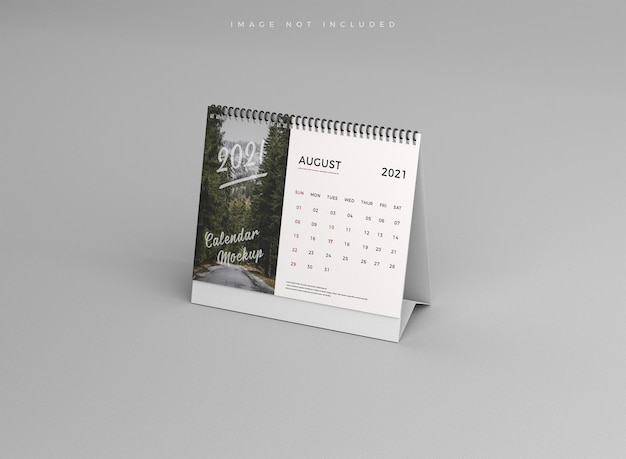 Maquete realista do calendário de mesa