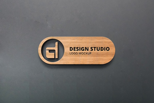 Maquete realista do logotipo 3d