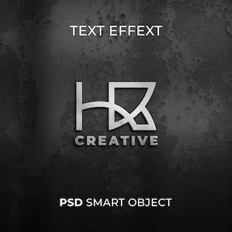 Maquete realista do logotipo da parede 3d