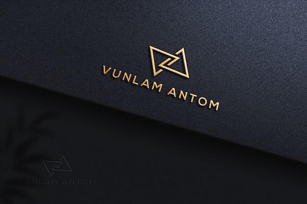 Maquete realista do logotipo em relevo