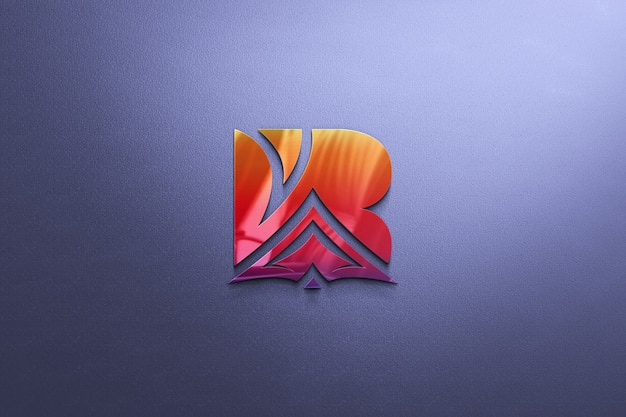 Maquete realista do logotipo