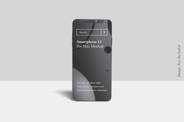 Maquete realista do smartphone 12 pro max