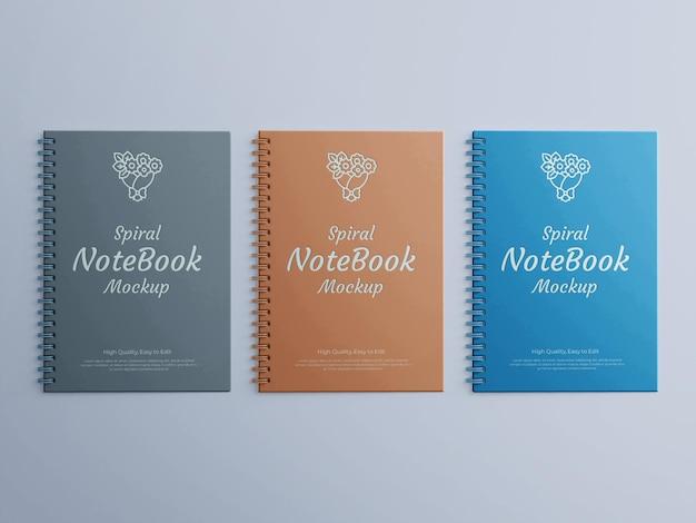 Maquete realista do spiral notebook