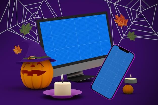 Maquete responsiva de halloween