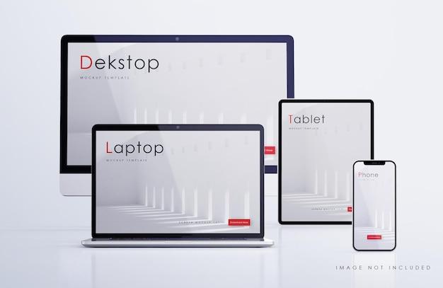 Maquete responsiva de vários dispositivos