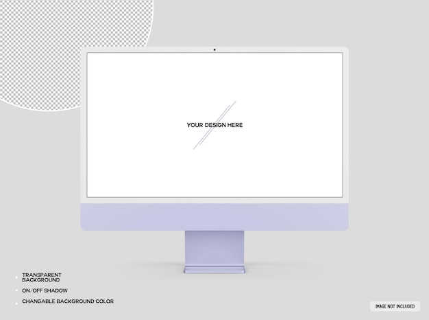 Maquete roxa do computador desktop