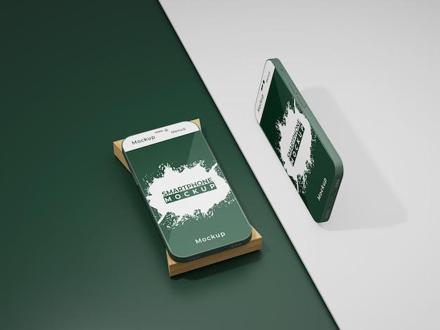 Maquete simples da tela do telefone