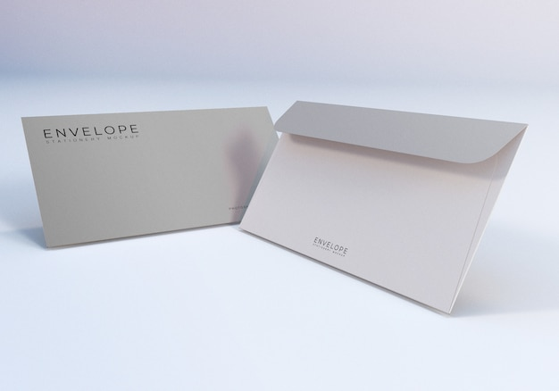 Maquete simples de envelope monarca limpo