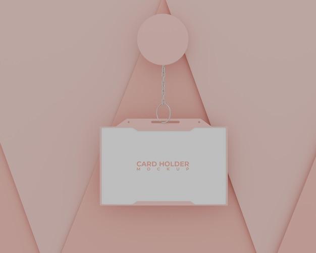 Maquete simples do porta-cartão rosa