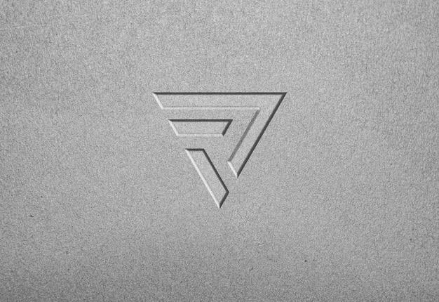 Maquete textura logotipo concreto leve