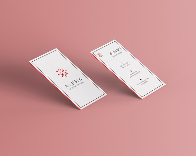 Maquete vertical cartão de visita