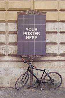 Maquete vertical de cartaz de rua
