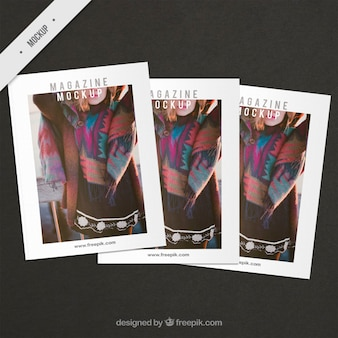 Maquetes capa de revista de moda