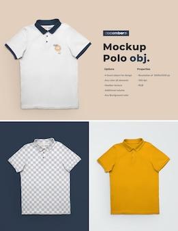 Maquetes de camiseta polo