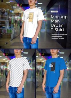 Maquetes de camisetas masculinas