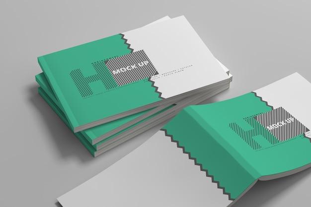 Maquetes de capa de revista horizontal