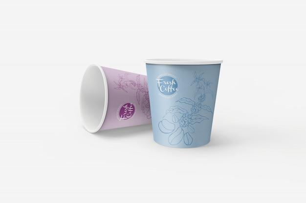 Maquetes de copo de papel