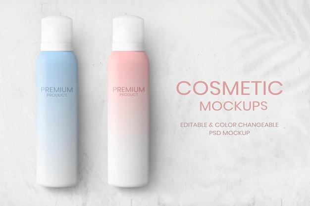 Maquetes de frascos de spray para marca e embalagem