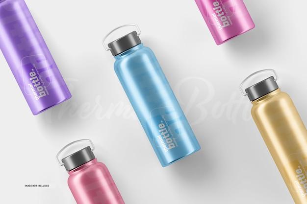 Maquetes de garrafa de água termal
