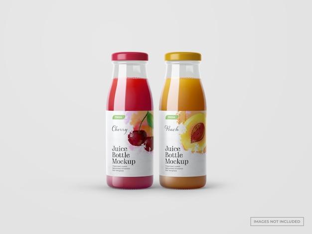 Maquetes de garrafas de suco