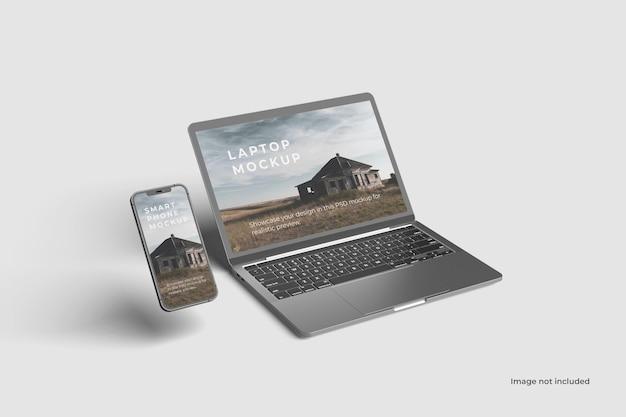 Maquetes de laptop e smartphone