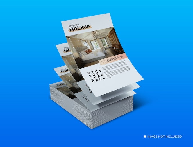 Maquetes de modelos de panfletos de conceitos criativos