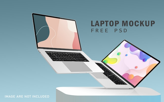 Maquetes de notebook pro premium com psd grátis de alta resolução